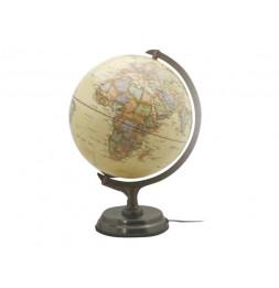 Globe politique lumineux Antique - D 30 cm - Jaune