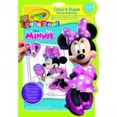 Album de coloriage et d'autocollants - Minnie - Loisirs créatifs
