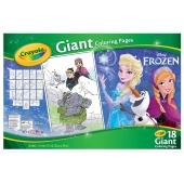 Pages géantes à colorier avec autocollants - La reine des neiges