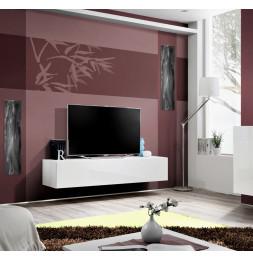 Banc TV - FLY 30 - L 160 cm x P 40 cm X H 30 cm - Blanc