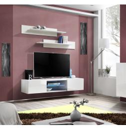 Banc TV LED - FLY 33 - L 160 cm x P 40 cm X H 30 cm -  Blanc