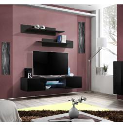 Banc TV LED - FLY 33 - L 160 cm x P 40 cm X H 30 cm - Noir