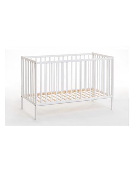 Lit bébé en bois - Cypi - L 124 cm x P 65 cm x H 85 cm - Blanc