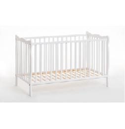 Lit bébé en bois avec matelas - Ala - L 124 cm x P 71 cm x H 83 cm