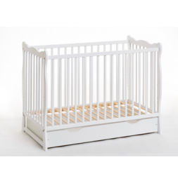 Lit bébé en bois - Ala plus - L 124 cm x P 71 cm  x H 85 cm