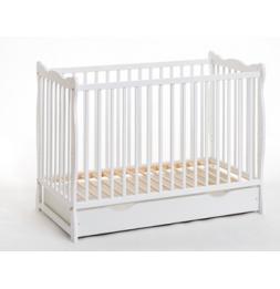 Lit bébé en bois avec matelas - Ala plus - L 124 cm x P 71 cm  x H 85 cm