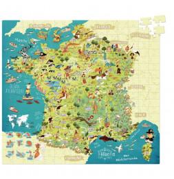 Puzzle carte de France - 50 x 55 cm