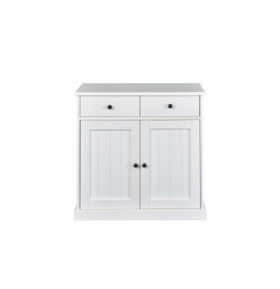 Bahut bas Westerland - 90 x 86 x 45 cm - Bois - Blanc