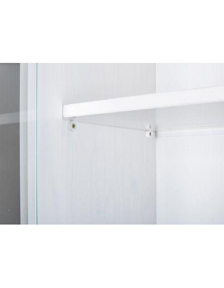 Bahut Vaisselier Westerland - 90 x 191 x 45 cm - Bois - Blanc