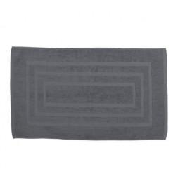 Tapis de bain 100% coton - 50 x 85 cm - Gris anthracite