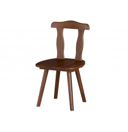 Chaise aosta - 46 x 82 x 47 cm - Bois - Marron