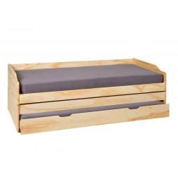 Canapé multi-fonctions Lotar - 97 x 209 x 65 cm - Bois - Marron