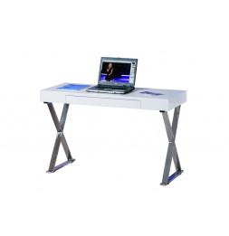 Bureau informatique Grace - 120 x 75 x 55 cm - Métal - Blanc