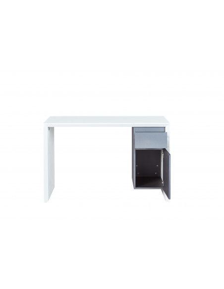 Bureau Megara - 120 x 50 x 75 cm - Métal - Blanc