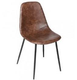 Chaise - L 53 x l 43 x H 82 cm - Métal - Marron