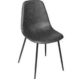 Chaise - L 53 x l 43 x H 82 cm - Métal - Gris