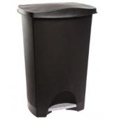 Poubelle à pédale - 24 L - Plastique - Noir