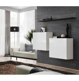 Commode murale avec étagère - Switch SB I -  Blanc