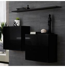 Commode murale avec étagère - Switch SB I -  Noir
