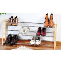 Range chaussures extensible 3 niveaux - Jusqu'à 18 paires