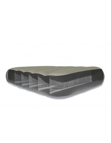Matelas airbed fiber tech - 2 places - 137 x 191 x 25 cm - Beige