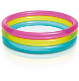 Piscine Rainbow 3 anneaux - 86 x 25 cm - PVC
