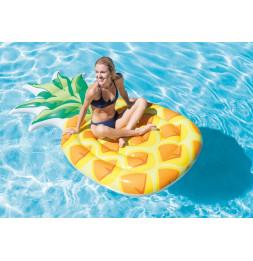 Matelas gonflable ananas - L 216 x l 124 cm - PVC - Jaune