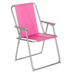 Chaise pliante - Grecia - 53 x 56 x 75 cm - Framboise