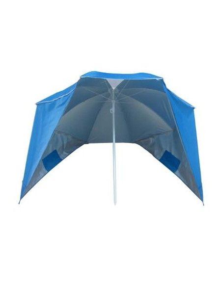 Parasol tente de plage - L 160 x l 118 x  H 113 cm - Bleu
