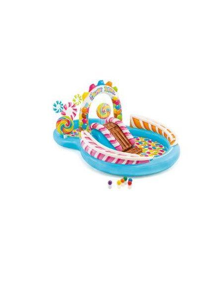 Aire de jeux gonflable - Royaume des bonbons - 295 x 191 x 130 cm - PVC