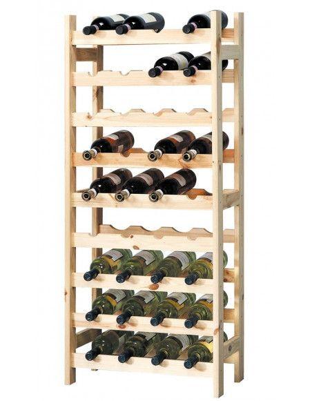 Porte bouteilles en bois - Meuble de rangement pour bouteilles