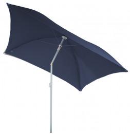 Parasol de plage carré - Helenie - 180 x 180 x 200 cm - Bleu orage