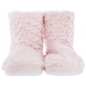 Paire de chaussons - 36/37 - Polyester - Rose