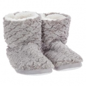 Paire de chaussons - 38/39 - Polyester - Gris