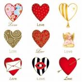 Serviettes de table en papier - Paquet de 20 serviettes - Love