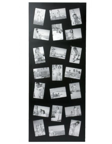 Pêle-mêle 21 photos - Grand cadre multi photos - Noir