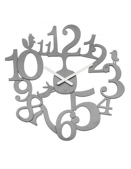 Horloge murale - H 44,5 x l 45 cm - Gris