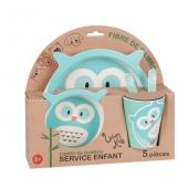 Coffret de déjeuner hibou pour enfant - Bambou
