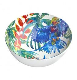 Saladier design Oiseaux tropicaux - 4 L - Mélamine