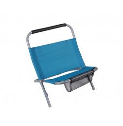 Cale dos de plage avec filet - Bleu