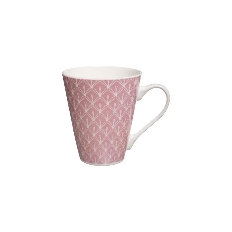 Faience Rose Ac Mug Deco Conique OPTukZwXli