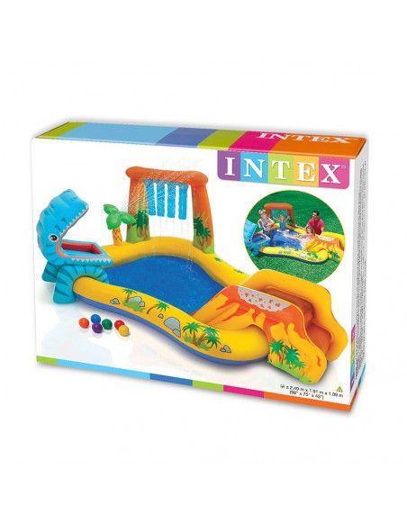 Aire de jeu gonflable dinosaures - Intex - Piscine pour enfants