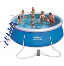 Kit piscine ronde Fast Set - D 457 x H 122 cm - Bleu