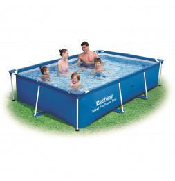 Piscine rectangulaire deluxe splash frame - 259 x 170 x 61 cm - Bleu