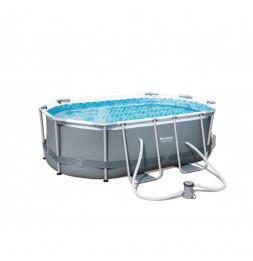Kit piscine ovale power steel frame - 300 x 200 x 84 cm - Gris