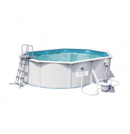 Kit piscine ovale steel wall - 500 x 360 x  120 cm - Gris