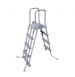 Echelle sécurité pour piscine - H 122 cm - Gris