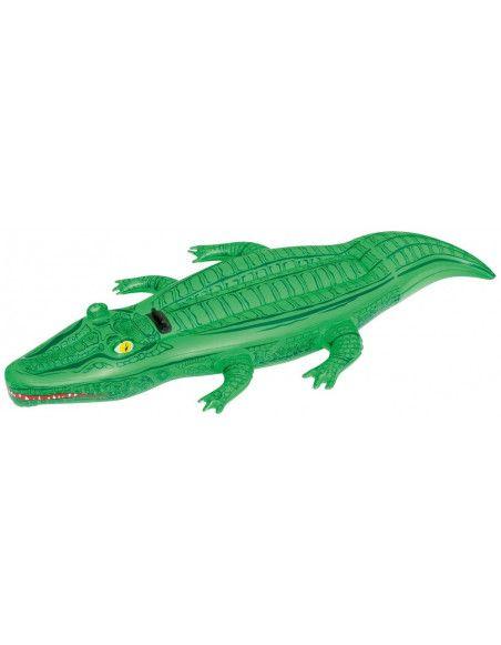 Chevauchable crocodile - 203 x 117 cm - Vert
