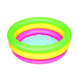 Piscinette arc en ciel ronde 3 boudins - D 70 x H 24 cm