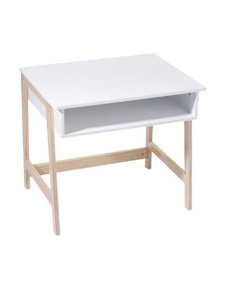 Bureau avec casier intégré - L 58 x l 52 x H 46 cm - MDF